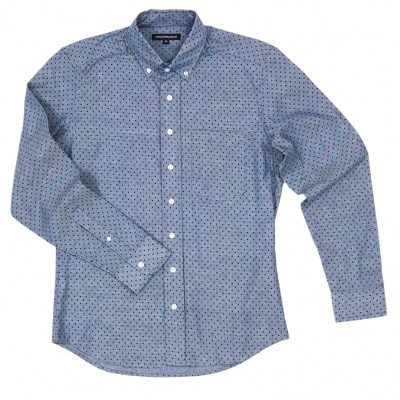 Knox Blue Dotted Chambray